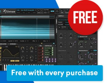 iZotope's Iris 2 synth is FREE with any purchase at Plugin Boutique