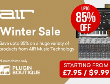 Save up to 90% on AIR Music Technology virtual instruments, plugins & expansions