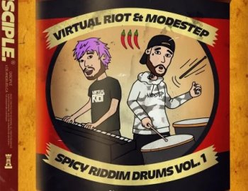 Disciple Samples Virtual Riot x Modestep Spicy Riddim Drums Vol. 1