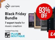 Save up to 93% in iZotope Black Friday Sale, incl. limited time bundle deal