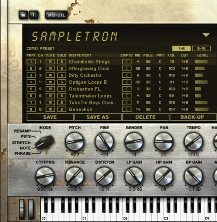 IK Multimedia SampleTron Instruments (SampleTank)