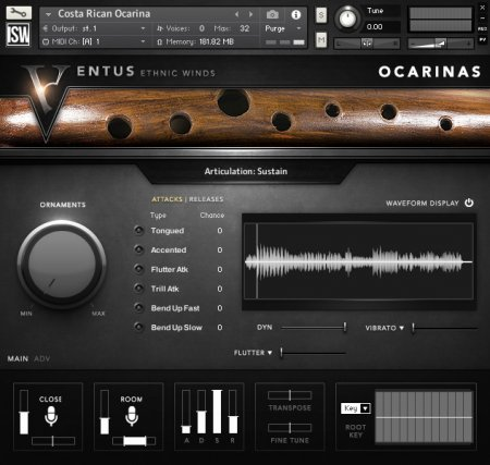 Impact Soundworks Ventus Ethnic Winds Ocarinas (KONTAKT)