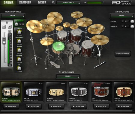 Naughty Seal Audio Perfect Drums v1.5.0 x86 x64