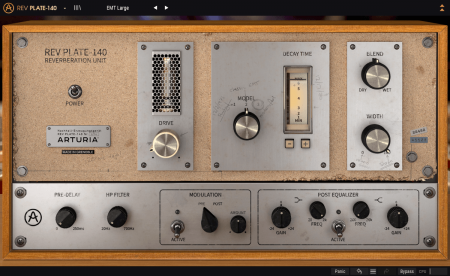 Arturia's Rev PLATE-140 reverb effect plugin is FREE for a limited time