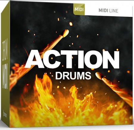 Toontrack Action Drums MIDI Line