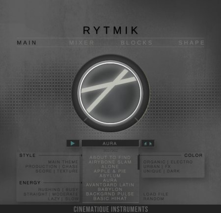 Cinematique Instruments Rytmik (KONTAKT)