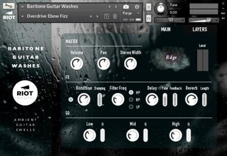 Riot Audio Baritone Guitar Washes (KONTAKT)