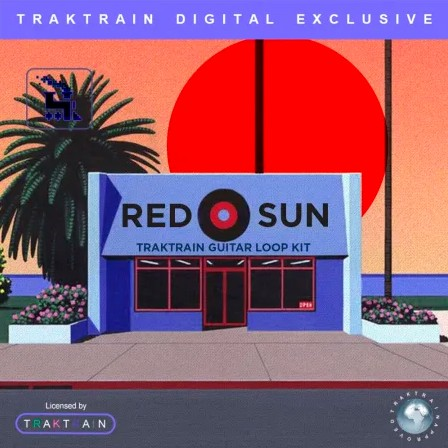 TrakTrain Red Sun Guitar Loop Kit