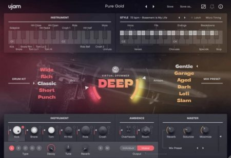 UJAM Virtual Drummer DEEP v2.1.1 x64
